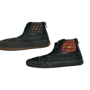 Vans Sk8-Hi Top Black Red Dragon Flame Shoes 3